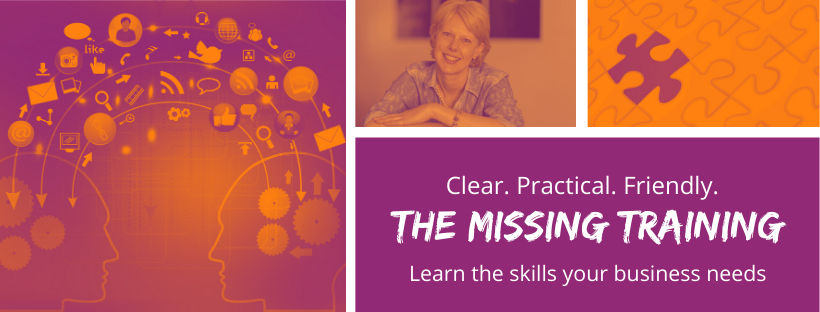 my new facebook page for my online training course business called The Missing Training